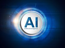 Τεχνολογία τεχνητής νοημοσύνης διανυσματική απεικόνιση