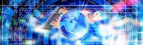 Τεχνολογία ΤΠ cyber κυβερνοχώρος Στοκ φωτογραφία με δικαίωμα ελεύθερης χρήσης