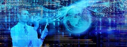 Τεχνολογία ΤΠ cyber Στοκ Φωτογραφία