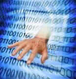 τεχνολογία υπολογιστών δυαδικού κώδικα Στοκ φωτογραφίες με δικαίωμα ελεύθερης χρήσης