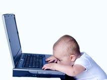 τεχνολογία 2 μωρών Στοκ φωτογραφία με δικαίωμα ελεύθερης χρήσης
