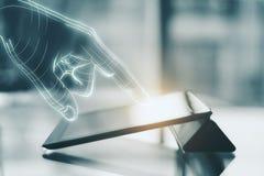 Τεχνολογία, AI και μελλοντική έννοια Στοκ Εικόνες