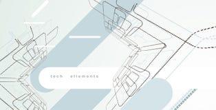 τεχνολογία ellements σχεδίου Στοκ εικόνα με δικαίωμα ελεύθερης χρήσης