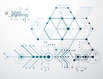 Τεχνολογική διανυσματική ταπετσαρία εφαρμοσμένης μηχανικής που γίνεται με hexagons, γ Στοκ φωτογραφίες με δικαίωμα ελεύθερης χρήσης