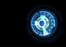 Τεχνολογικό ευφυές σύστημα αφηρημένο β σύνδεσης διεπαφών Στοκ Εικόνα