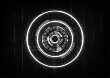 Τεχνολογικό ευφυές σύστημα αφηρημένο β σύνδεσης διεπαφών Στοκ εικόνες με δικαίωμα ελεύθερης χρήσης
