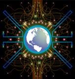 Τεχνολογία Διαδικτύου ζωής ΤΠ wolrd Στοκ φωτογραφία με δικαίωμα ελεύθερης χρήσης