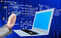 Τεχνολογία Διαδικτύου υπολογιστών εφαρμοσμένης μηχανικής Στοκ φωτογραφίες με δικαίωμα ελεύθερης χρήσης
