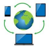 Τεχνολογία Διαδικτύου Διανυσματική απεικόνιση