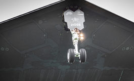 Τεχνολογία δερμάτων βομβαρδιστικών αεροπλάνων μαχητών μυστικότητας Στοκ Φωτογραφίες