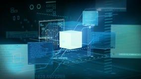 Τεχνολογία διεπαφών δικτύων κώδικα ψηφιακών στοιχείων 4K ελεύθερη απεικόνιση δικαιώματος