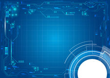 Τεχνολογία κεντρικών υπολογιστών υποβάθρου Στοκ Εικόνα