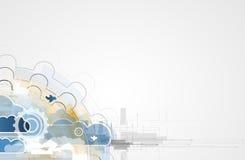 Τεχνολογία ολοκλήρωσης με τη φύση, ουρανός Καλύτερες ιδέες για την επιχείρηση Στοκ Φωτογραφίες
