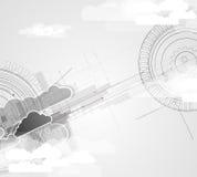 Τεχνολογία ολοκλήρωσης με τη φύση, ουρανός Καλύτερες ιδέες για την επιχείρηση Στοκ φωτογραφία με δικαίωμα ελεύθερης χρήσης