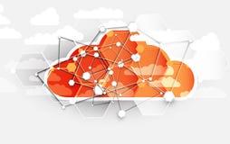 Τεχνολογία ολοκλήρωσης με τη φύση, ουρανός Καλύτερες ιδέες για την επιχείρηση Στοκ Εικόνες