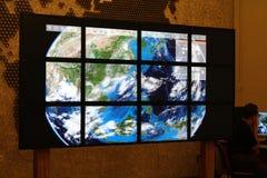 Τεχνολογία πολυμέσων, τηλεοπτικός τοίχος Στοκ εικόνες με δικαίωμα ελεύθερης χρήσης