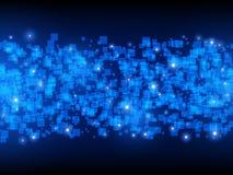 τεχνολογία πλανητών γήινων τηλεφώνων δυαδικού κώδικα ανασκόπησης Επικαλύπτοντας τετράγωνα επίσης corel σύρετε το διάνυσμα απεικόν Στοκ Φωτογραφίες
