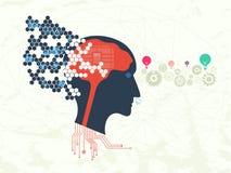Τεχνολογία στοιχείων και έννοια εκμάθησης μηχανών διανυσματική απεικόνιση