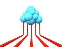 Τεχνολογία σύννεφων Στοκ εικόνα με δικαίωμα ελεύθερης χρήσης