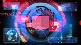 Τεχνολογία HD διεπαφών δικτύων κώδικα ψηφιακών στοιχείων απεικόνιση αποθεμάτων