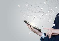 Τεχνολογίες για τους συνδέοντας χρήστες στοκ εικόνες