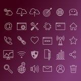 τεχνολογίες Διαδικτύου εικονιδίων υπολογιστών Στοκ φωτογραφία με δικαίωμα ελεύθερης χρήσης