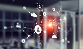 Τεχνολογίες σύνδεσης για την επιχείρηση Μικτά μέσα Μικτά μέσα Στοκ Εικόνες