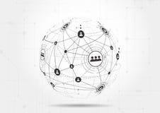 Τεχνολογίες σύνδεσης για την επιχείρηση Μικτά μέσα Στοκ Φωτογραφίες