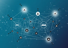 Τεχνολογίες σύνδεσης για την επιχείρηση Μικτά μέσα Στοκ φωτογραφία με δικαίωμα ελεύθερης χρήσης