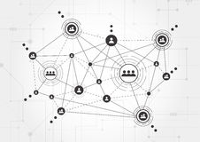 Τεχνολογίες σύνδεσης για την επιχείρηση Μικτά μέσα Στοκ εικόνες με δικαίωμα ελεύθερης χρήσης