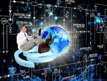 Τεχνολογίες σύνδεσης στο Διαδίκτυο ασφάλειας Στοκ φωτογραφία με δικαίωμα ελεύθερης χρήσης