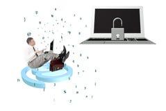 Τεχνολογίες σύνδεσης στο Διαδίκτυο ασφάλειας Στοκ Φωτογραφία