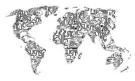 Τεχνολογικός κόσμος Στοκ εικόνα με δικαίωμα ελεύθερης χρήσης