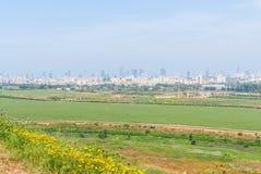 Τελ Αβίβ από το πάρκο του Ariel Sharon Στοκ Φωτογραφία