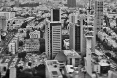 Τελ Αβίβ - 10 06 2017: Εναέρια άποψη σχετικά με τους δρόμους του Τελ Αβίβ και propert Στοκ φωτογραφία με δικαίωμα ελεύθερης χρήσης