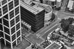 Τελ Αβίβ - 10 06 2017: Εναέρια άποψη σχετικά με τους δρόμους του Τελ Αβίβ και propert Στοκ εικόνα με δικαίωμα ελεύθερης χρήσης