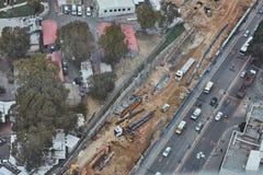 Τελ Αβίβ - 10 06 2017: Εναέρια άποψη σχετικά με τους δρόμους του Τελ Αβίβ και propert Στοκ φωτογραφίες με δικαίωμα ελεύθερης χρήσης