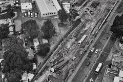 Τελ Αβίβ - 10 06 2017: Εναέρια άποψη σχετικά με τους δρόμους του Τελ Αβίβ και propert Στοκ Εικόνες
