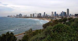 Τελ Αβίβ Ισραήλ Άποψη από Jaffa Στοκ φωτογραφία με δικαίωμα ελεύθερης χρήσης