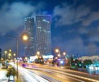 Τελ Αβίβ τη νύχτα Στοκ Φωτογραφίες