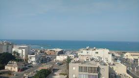 Τελ Αβίβ - τοπίο στο βόρειο λιμένα Στοκ φωτογραφία με δικαίωμα ελεύθερης χρήσης