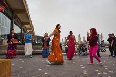 Τελ Αβίβ - 20 Φεβρουαρίου 2017: Θιασώτες Krishna λαγών που γιορτάζουν το δ στοκ φωτογραφίες με δικαίωμα ελεύθερης χρήσης