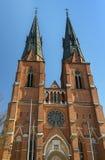 1270 τελειωμένη αρχισμένη εργασία της Ουψάλα 1435 καθεδρικών ναών κατασκευή Στοκ φωτογραφίες με δικαίωμα ελεύθερης χρήσης
