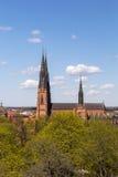 1270 τελειωμένη αρχισμένη εργασία της Ουψάλα 1435 καθεδρικών ναών κατασκευή Στοκ Φωτογραφία