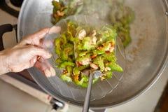 Τελειώστε ανακατώνει το τηγανισμένο πικρό mellon Στοκ φωτογραφίες με δικαίωμα ελεύθερης χρήσης