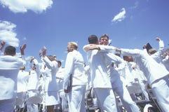 Τελετή βαθμολόγησης Ηνωμένης Ναυτικής Ακαδημίας, 26 Μαΐου 1999, Annapolis, Μέρυλαντ Στοκ Φωτογραφία