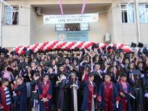 Τελετή βαθμολόγησης στο σχολείο στην Τουρκία στοκ εικόνα