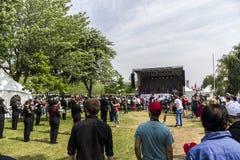 Τελετή ημέρας του Καναδά στο Μόντρεαλ στοκ φωτογραφίες