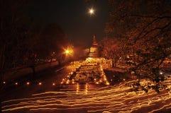 Τελετή κεριών βουδισμού Στοκ Εικόνα
