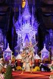 Τελετή πένθους πατριαρχών ναών Luang Chedi Στοκ Εικόνες